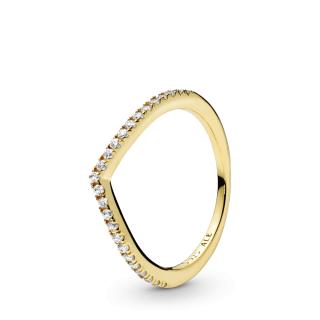 "Blistavi ""wishbone"" prsten"