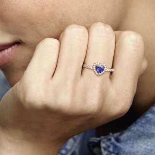 Prsten Blistavo plavo uzvišeno srce
