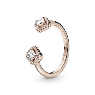 Prsten otvorenog dizajna Blistavi kvadrat