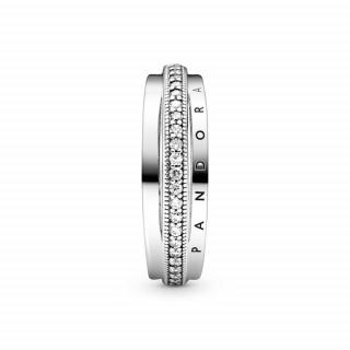 Prsten pavé s tri obruča