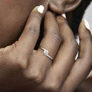 Prsten Prozirno nagnuto srce