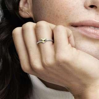 Prsten Ispupčeno zlatno srce
