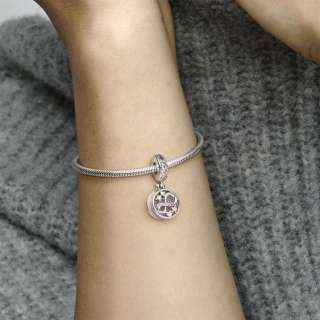 Viseći privjesak Svjetlucavi simbol beskonačnosti sa srcima i zvijezdama
