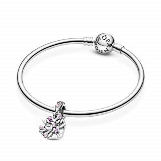 Viseći privjesak Obiteljsko stablo u ružičastom srcu