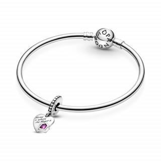 Viseći privjesak u obliku srca Volim svoj dom