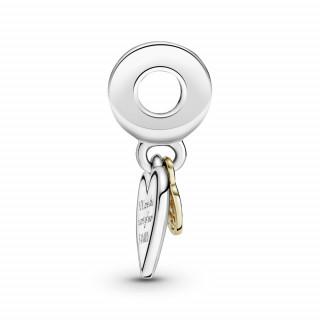Viseći privjesak u dvije nijanse Obiteljsko stablo i srce