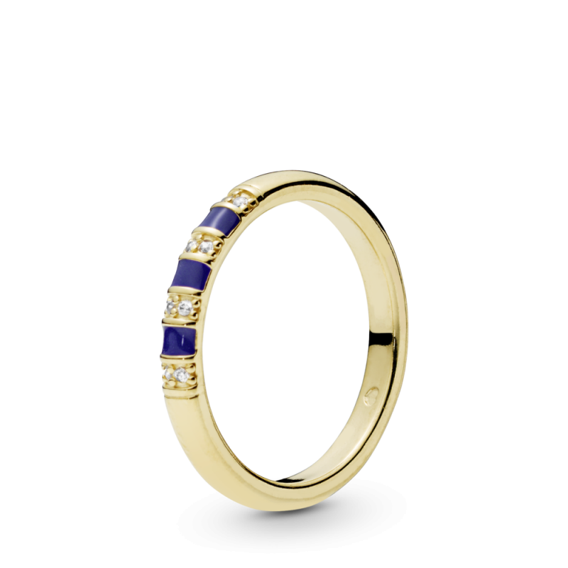 Egzotični prsten sa cirkonima i prugama