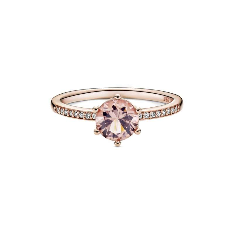 Prsten Ružičasta blistava kruna