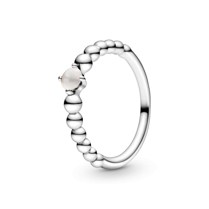 Prsten s kuglicama zagasito ružičasti