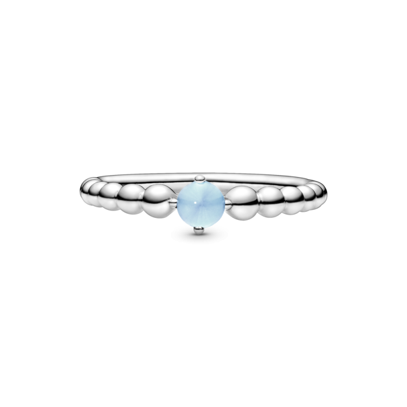 Prsten s kuglicama nebesko plavi