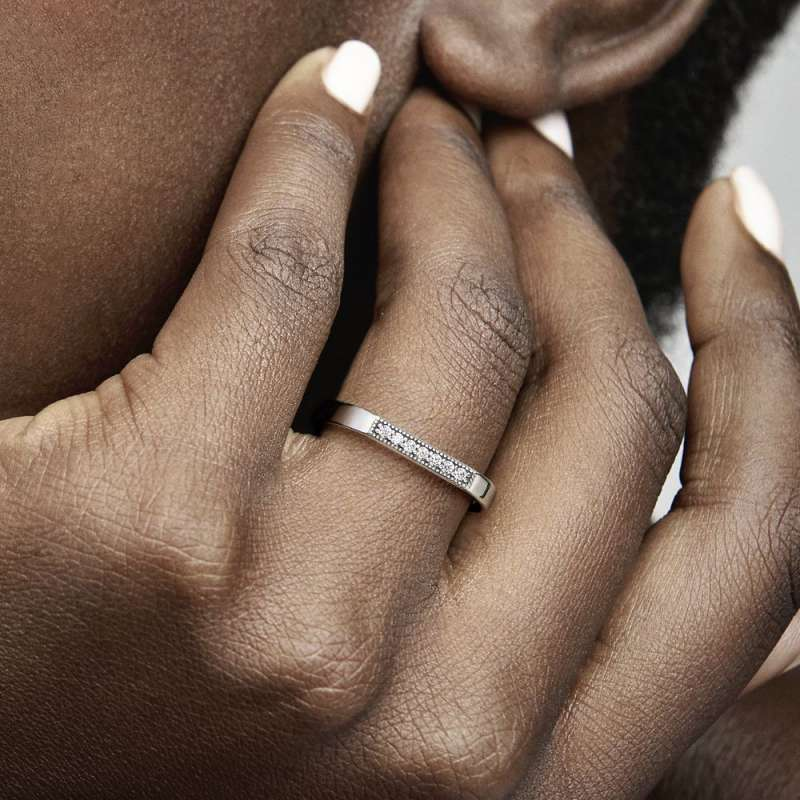 Prsten za kombiniranje s blistavom pločicom