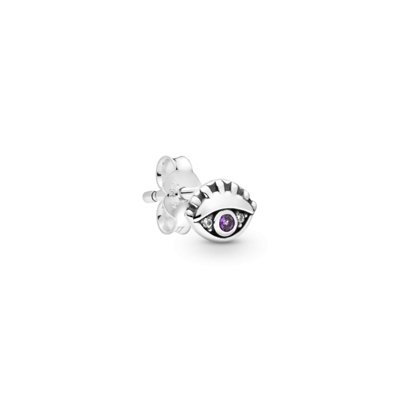 """Pojedinačna naušnica Pandora Me  sa skrivenom kopčom """"Moje oko"""""""