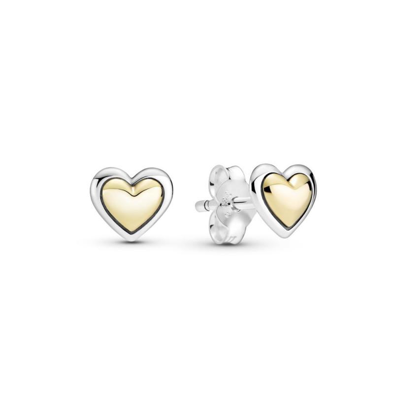 Naušnice Ispupčeno zlatno srce