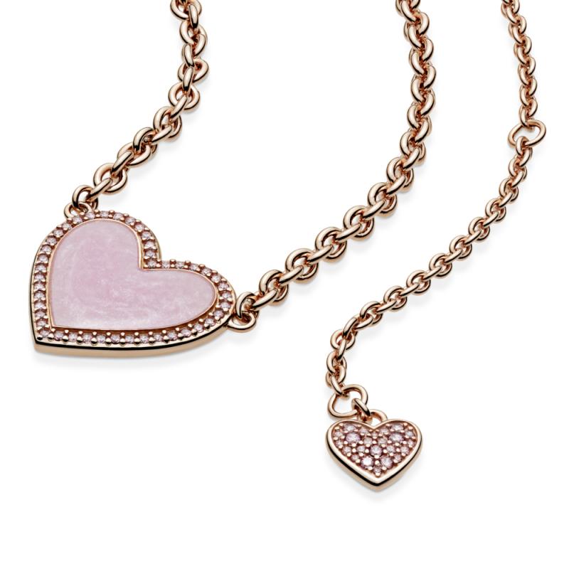 Ogrlica uz vrat Ružičasti vrtlog u srcu