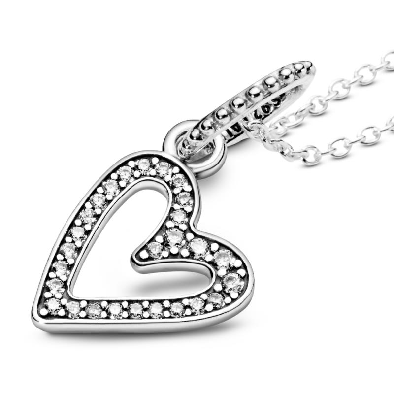 Ogrlica s visećim privjeskom Svjetlucavo nesavršeno srce