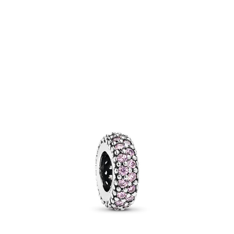Razdvojnik s ružičastim svjetlucavim kamenčićima
