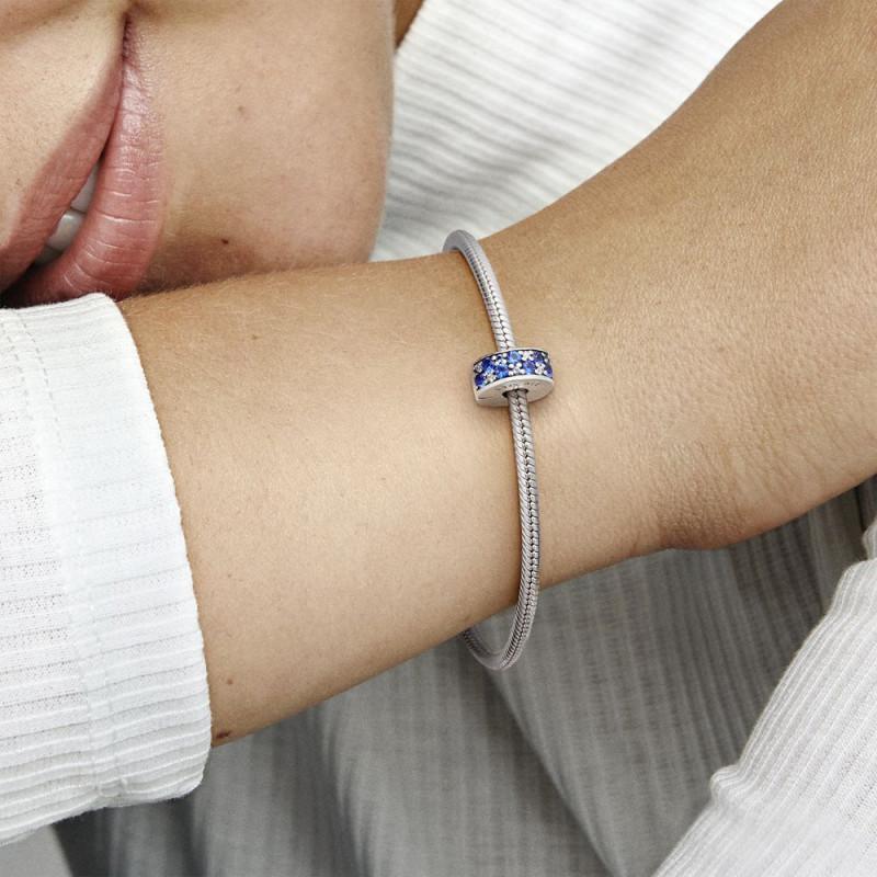 Kopča Svjetlucava elegancija od plavog mozaika