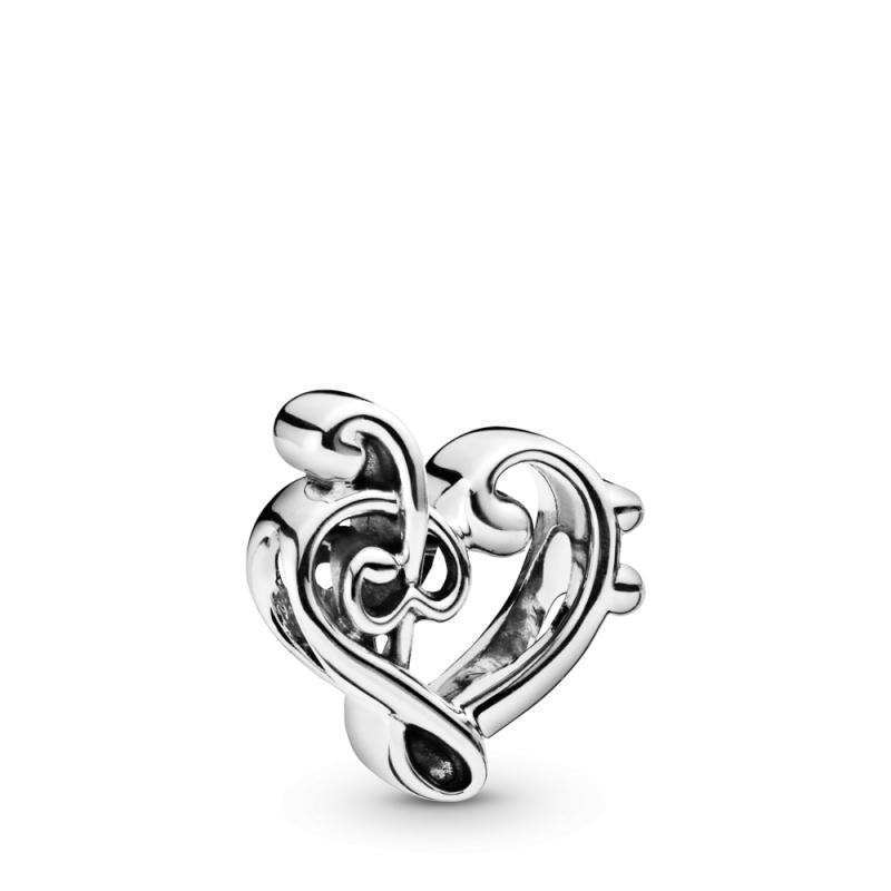 Privjesak Violinski ključ u obliku srca