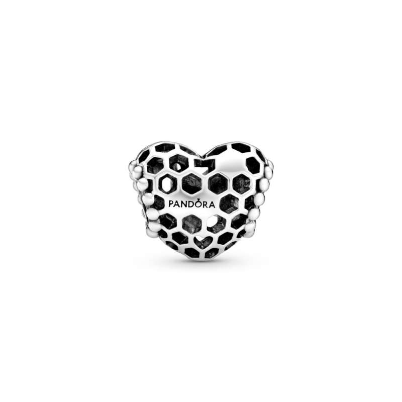 """Privjesak u obliku srca sa saćastim uzorkom """"Bee Happy"""""""