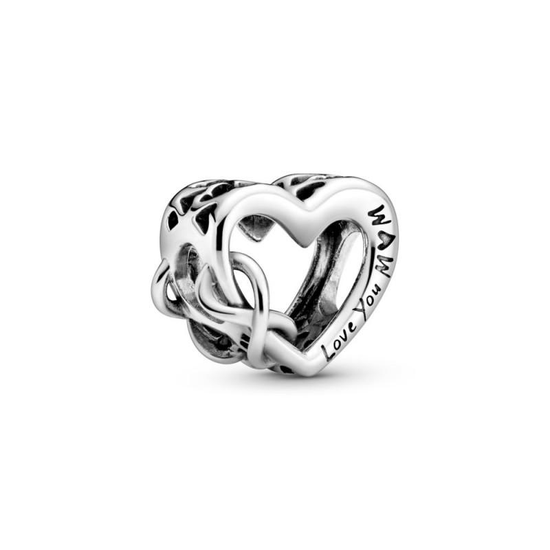 """Privjesak u obliku srca sa simbolom beskonačnosti """"Love You Mum"""""""