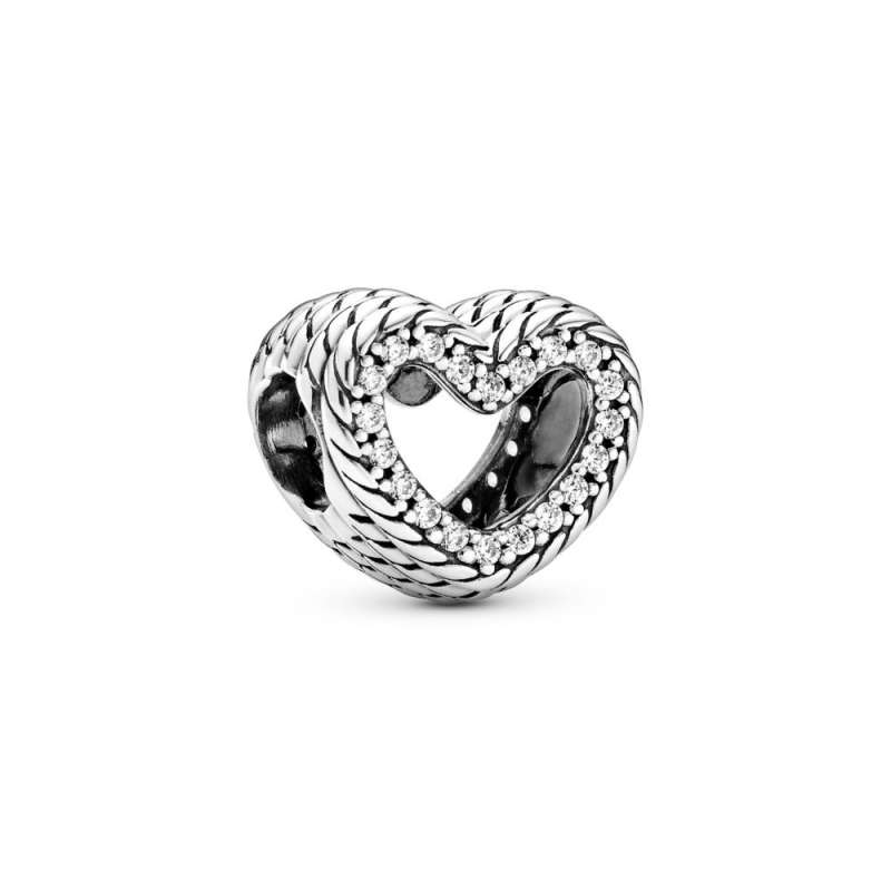 Privjesak Otvoreno srce s uzorkom zmijskog veza
