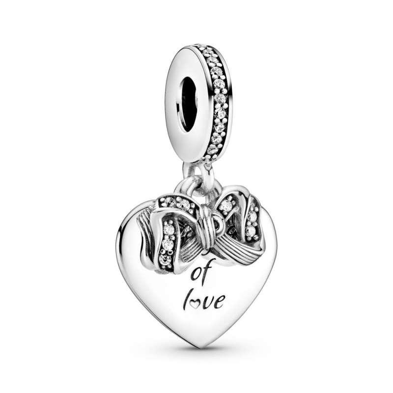 Viseći privjesak u obliku srca Vrpca i ljubav