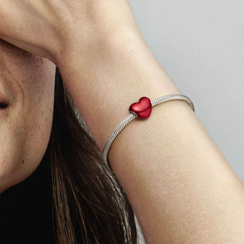 Privjesak Metalno crveno srce