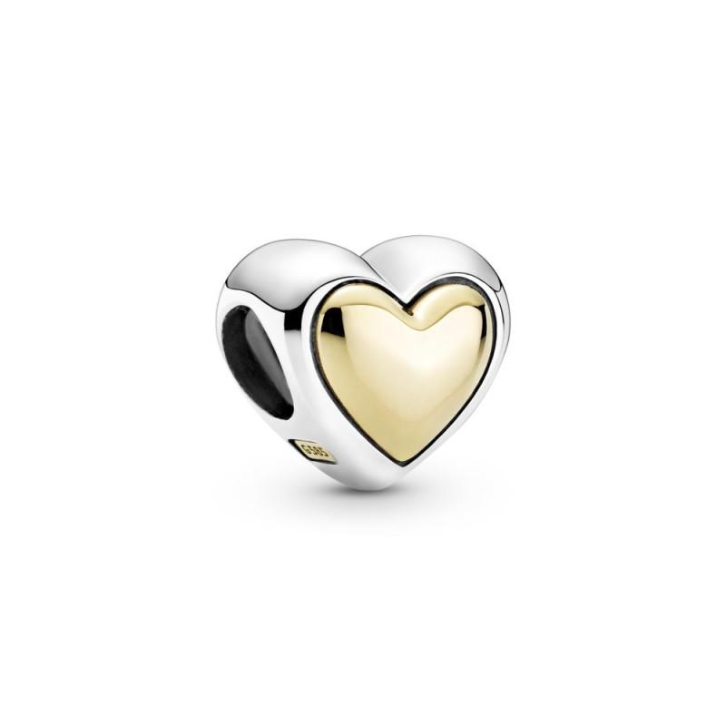 Privjesak Ispupčeno zlatno srce