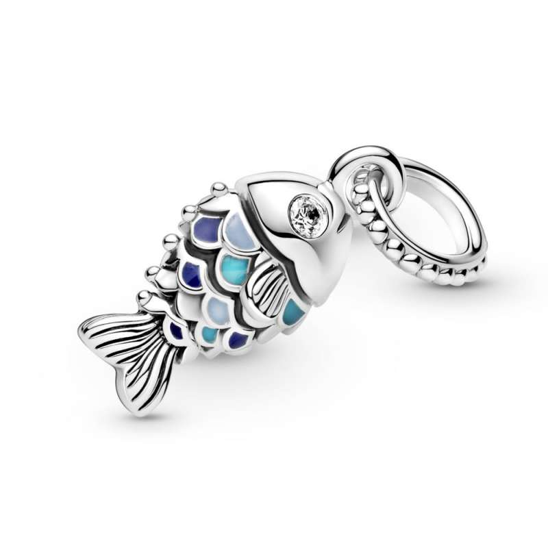 Viseći privjesak Plava riba s ljuskicama