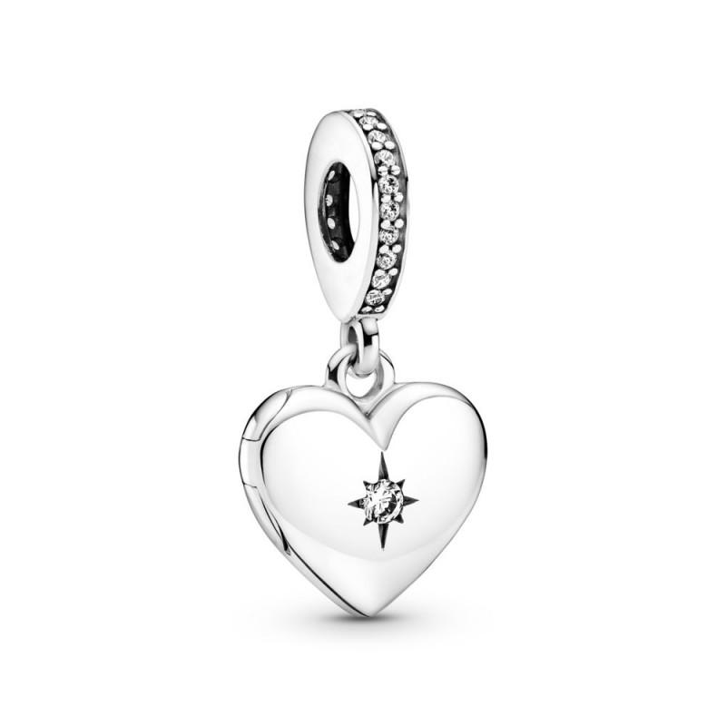 Viseći privjesak s medaljonom u obliku srca